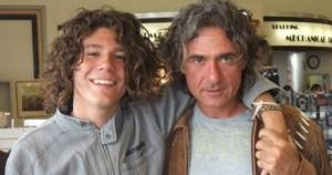 Andrea con il papà Franco