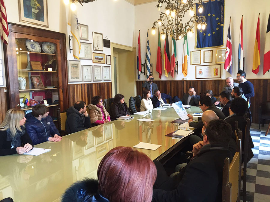 La conferenza stampa a Palazzo di Città